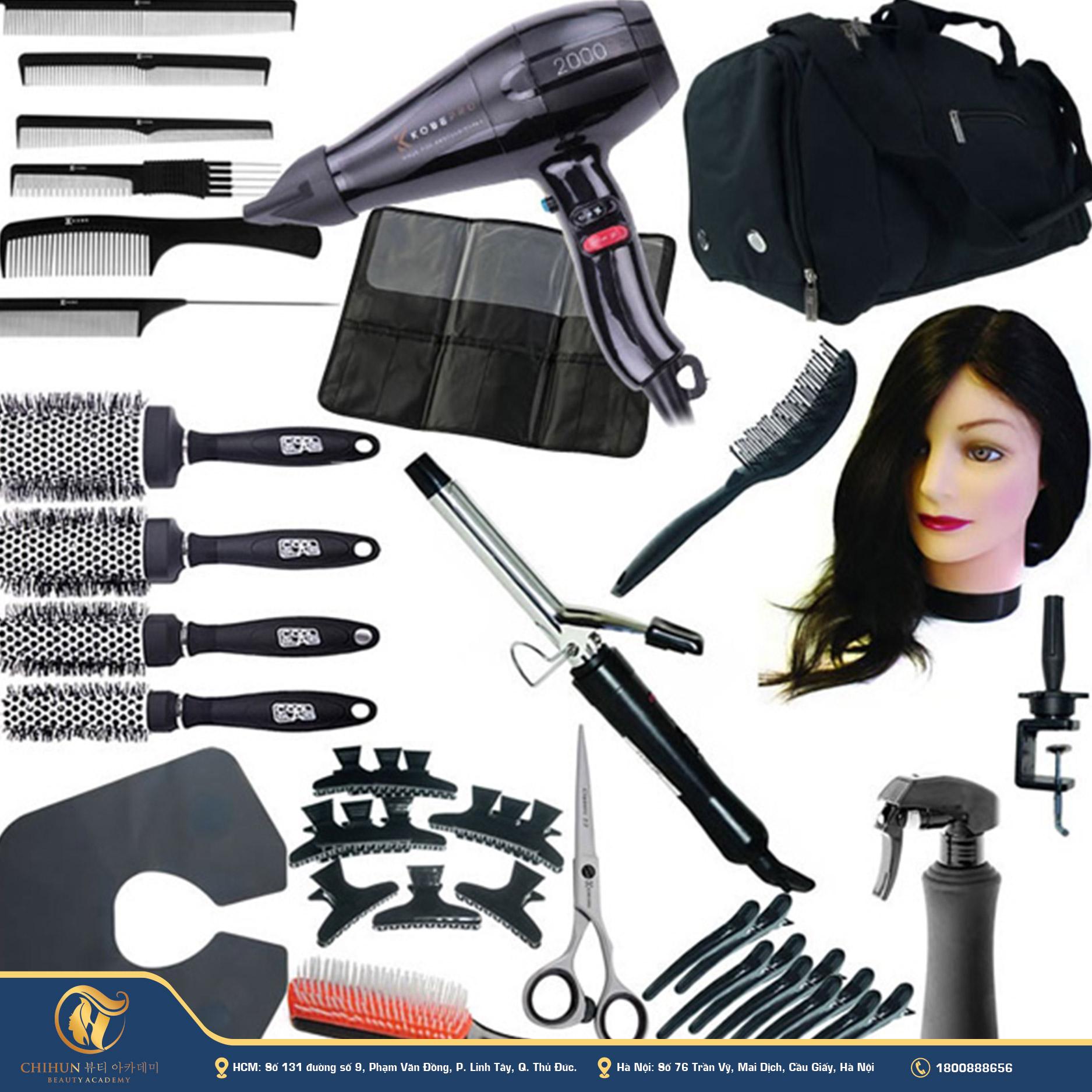 Bộ dụng cụ nghề cắt tóc