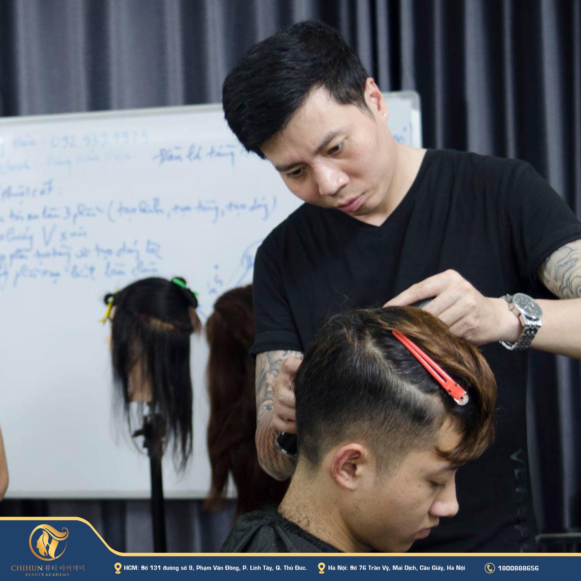 học nghề cắt tóc nam