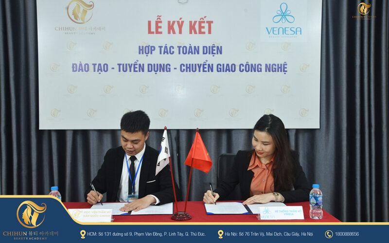 Lễ ký kết Hợp tác toàn diện giữa Chihun Academy và Venesa Việt Nam