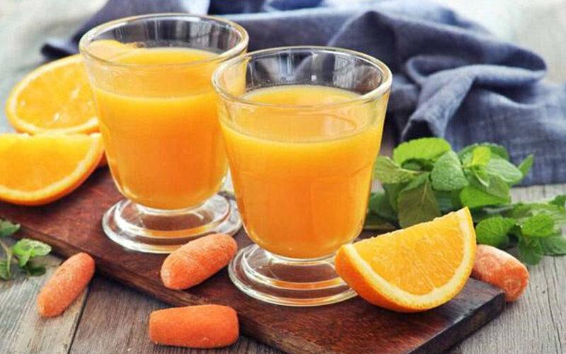 nước cam uống cho da hết mụn